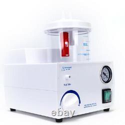 1000mL Dental Medical Emergency Vacuum Phlegm Suction Unit Electric Piston Pump