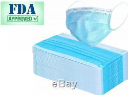 100 Pcs Medical Dental Surgical Antiviral Disposable Flu Coronavirus Face Mask