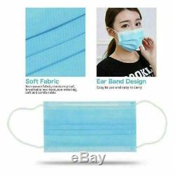 10/20/50 Face Mask Mouth Cover Surgical MEDICAL Dental Disposable 3-PLY Earloop