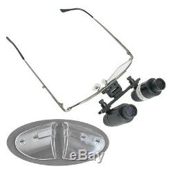 10 in 1 4.0x Adjustable Dental Surgical Loupes Medical Magnify Glass 300-500mm
