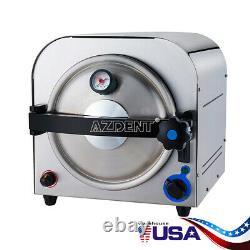 14L Autoclave Steam Sterilizer Medical Sterilization Dental Lab Equipment