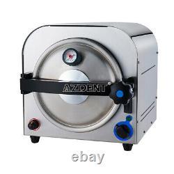 14L Dental Autoclave Steam Sterilizer Medical Sterilization Equipment 900W 110V