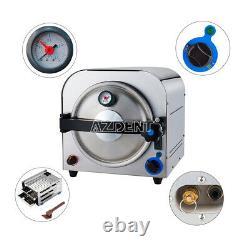 14L Dental Autoclave Steam Sterilizer Medical Sterilization Lab Equipment 900W