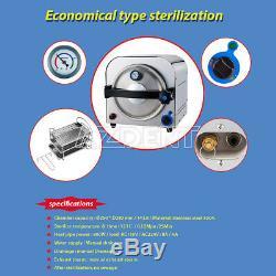 14L Medical Sterilization Lab Equipment Dental Autoclave Steam Sterilizer 110V