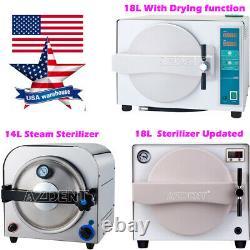 14/18L Dental Autoclave Steam Sterilizer Medical Sterilization Lab Equipment