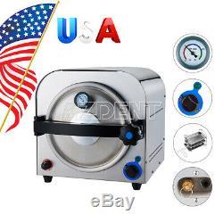 14 Liter Automatic Autoclave Steam Sterilizer Dental Medical Sterilizition