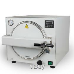 18L Autoclave Medical Steam Sterilizer Dental Lab Sterilizer Unit +Handpiece FDA