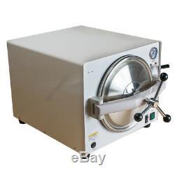 18L Dental Autoclave Steam Sterilizer Medical Lab Sterilization+LED handpiece