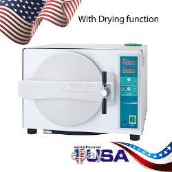 18L Dental Autoclave Steam Sterilizer Medical Sterilization Drying Function