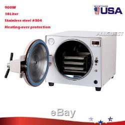 18L Dental Lab Equipment Autoclave Steam Sterilizer Medical Sterilization UPS