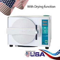 18L Dental Medical Autoclaves Steam Sterilizers Automatically Drying Function US