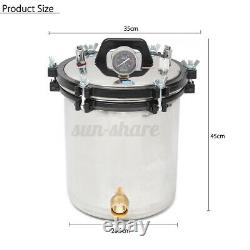 18L Pro Medical Steam Autoclave Sterilizer Dental Lab Sterilization Equipment US