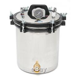 18L Professional Medical Steam Autoclave Sterilizer Dental Lab Equipment A+ D