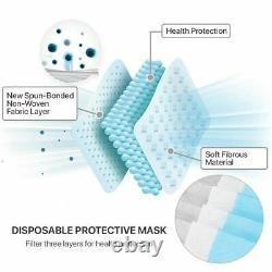 20-1000 Face Mask Medical Surgical Dental Disposable 3-Ply Earloop Mouth Cover