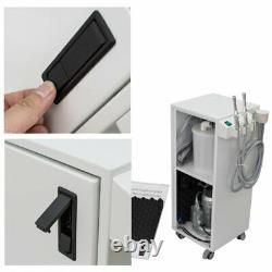 350W Portable Medical Dental Suction Mobile Unit Vacuum Pump 300L/min Aspirator