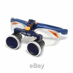 3.5X420mm Dental Binocular Loupes Galileo Frame Medical Magnifier FD-503G US