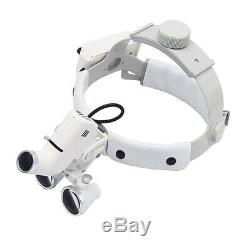 3.5X-R 5W Dental LED Surgical Medical Headband Loupe with Light DY-106 White