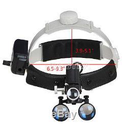 3.5X-R Dental Lab Medical LED Headlight Headband Binocular Loupes Black