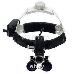 3.5x Dental Medical Surgical Headlight Headband Binocular LED Light 5W