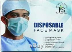 3-Ply Disposable Face mask Dental Nail lab anti dust hospital medical 1000pcs