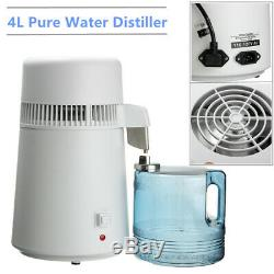 4L Dental/Medical Water Pure Distiller Purifier Filter 304 Stainless Steel