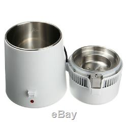4L Dental/Medical Water Pure Distiller Purifier Filter Stainless Steel 220V