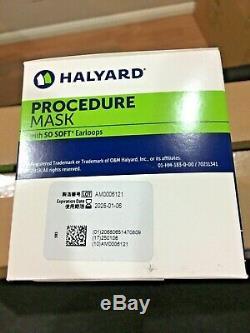 500 pc Halyard 47080 Procedure Ear loop medical surgical dental face mask