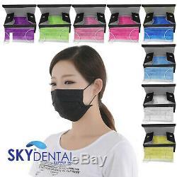 50 ASTM Level 1- 3 Medical Dental Tattoo Mask Earloop Fluid Resistant Respirator
