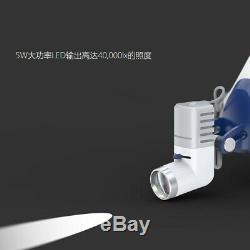 5W LED KD-205AY-2 Dental Surgical HeadLight Medical Lamp +2X Battery