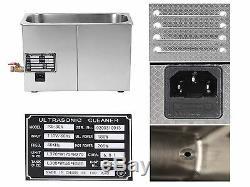 6L Digital Stainless Steel Dental Medical 6 Liter Ultrasonic Cleaner Heater Tank