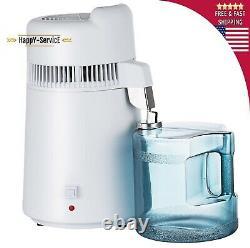 6L Home Dental Medical Pure Water Distiller Purifier Stainless Steel Internal
