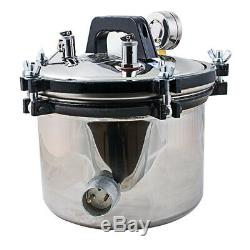 8L Medical Dental Steam Autoclave Sterilizer Sterilization Equipment Stainless