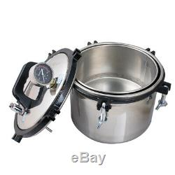 8L Medical Dental Sterilization Pressure Steam Autoclave Sterilizer Machine US
