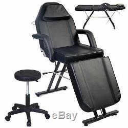 ADJUSTABLE PORTABLE MEDICAL DENTAL CHAIR WithSTOOL COMBINATION BLACK