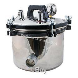 A 8L portable Dental Medical Autoclave Pressure Steam Sterilizer Sterilization