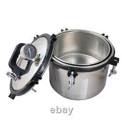 A Medical Dental Equipment Stainless High Pressure Steam Autoclave Sterilizer 8L