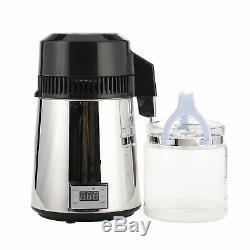 Adjustable 4L Pure Water Distiller Electric Dental/Medical/Lab Home Distill Wine