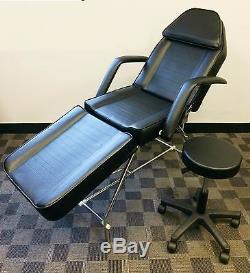 Adjustable Exam Medical Dental Chair And Portable Stool (black) (brand New)