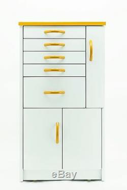 DENTAL MEDICAL LAB MOBILE STORAGE CABINET CART MULTIFUNCTIONAL DRAWERS With WHEELS