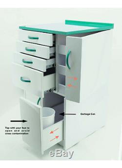 DENTAL MEDICAL MOBILE CABINET CART MULTIFUNCTIONAL DRAWERS With WHEELS GREEN SMALL