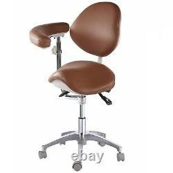 Deluxe Dental Medical Chair Saddle Chair Foot Controll PU Leather with Armrest