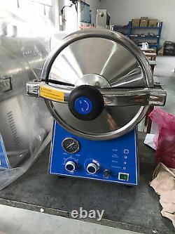 Dental 24L Medical High Pressure Steam Autoclave Sterilizer Stainless Steel 220V