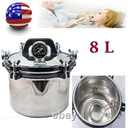 Dental 8L High Pressure Steam Autoclave Sterilizer Pot Medical Sterilization Lab