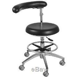 Dental Assistant Stool 360° Rotation Armrest PU Ergonomic Adjustable Medical