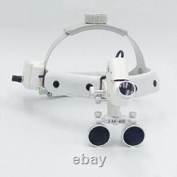 Dental Dentist Surgical Headband Medical LED Light Binocular Loupes 3.5X Optics