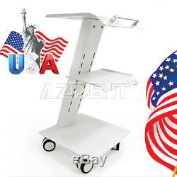 Dental Medical Built-in Socket Tool Cart Mobile Metal Instrument Trolley 100-240