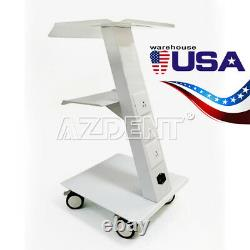 Dental Medical Cart Metal Built-in Socket Tool Mobile Cart Dental Trolley