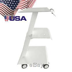 Dental Medical Cart Metal Built-in Socket Tool Mobile Instrument Trolley Stand