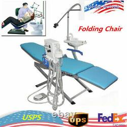 Dental Medical Folding Chair Portable Turbine Flushing Water Supply System+LED