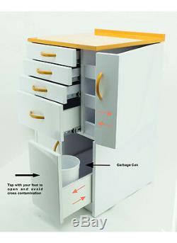 Dental Medical Mobile Cabinet Cart Multifunctional Drawers Mustard Yellow Small
